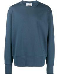 Acne Studios Sweater Met Logoprint - Blauw