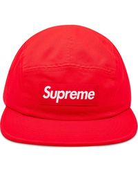 Supreme Washed Chino Twill Camp Cap - Red