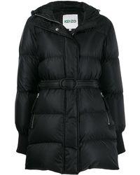 KENZO Belted Padded Coat - Black