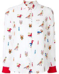 Chinti & Parker - Aztec Print Shirt - Lyst