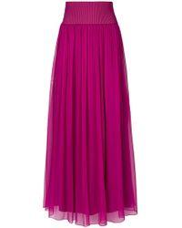 Alberta Ferretti   Maxi Pleated Skirt   Lyst