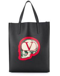 Valentino Garavani X Undercover 'go スカル' トートバッグ - ブラック