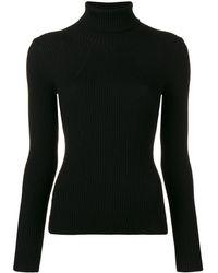 3.1 Phillip Lim リブニット タートルネック セーター - ブラック