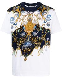 Versace Jeans Couture バロックプリント Tシャツ - ホワイト
