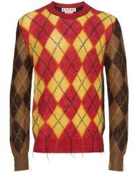 Marni - Argyle カラーブロックセーター - Lyst