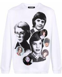 Raf Simons Portrait Collage プリント スウェットシャツ - ホワイト