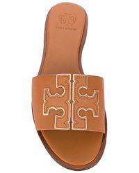Tory Burch Ines Slide Sandals - Brown