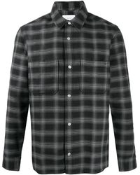 Calvin Klein Рубашка Dobby В Клетку - Черный