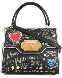Dolce & Gabbana Bolso shopper Welcome - Negro