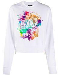 Versace メデューサ スウェットシャツ - ホワイト