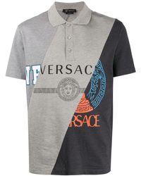 Versace - パネル ポロシャツ - Lyst