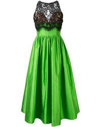 Rasario レースパネル ドレス - グリーン