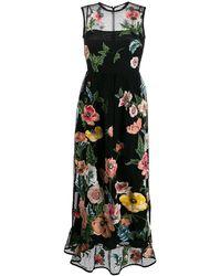 RED Valentino Poppy Embroidery Macramé Dress - Черный