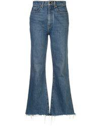 Khaite Gabbie Cropped Jeans - Blue