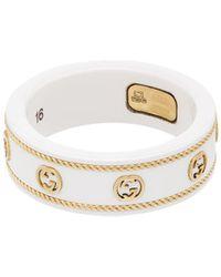 Gucci Bague Icon avec GG en or jaune - Métallisé