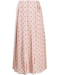 Valentino ロゴ プリーツスカート - ピンク
