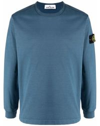 Stone Island ロゴ ロングtシャツ - ブルー