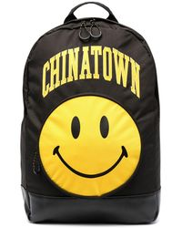 Chinatown Market Smiley Logo Print Backpack - Black