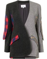 Enfold Blazer oversize con diseño patchwork - Gris