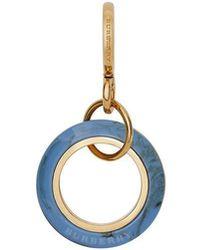 Burberry Porte-clés à effet marbré - Bleu