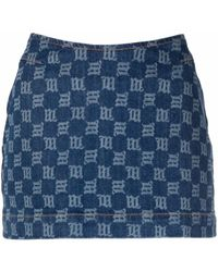 MISBHV Monogram Mini Denim Skirt - Blue
