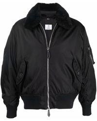 Burberry Logo-print Bomber Jacket - Черный