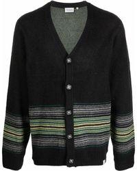Carhartt WIP Dillon-stripe V-neck Cardigan - Green