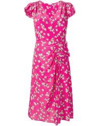 P.A.R.O.S.H. Vestido midi con motivo floral - Rosa