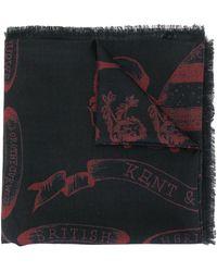 Kent & Curwen Graphic Print Scarf - Multicolour