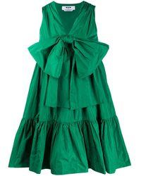 MSGM - リボン ギャザードレス - Lyst