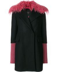 Frankie Morello - Fur Detail Coat - Lyst