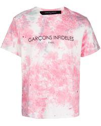 Garçons Infideles タイダイ Tシャツ - ピンク