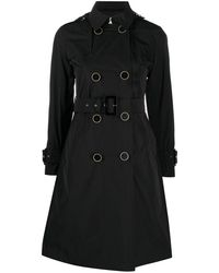Herno Double-breasted Cotton Trench Coat - Black