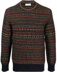 Wales Bonner ストライプ セーター - ブルー