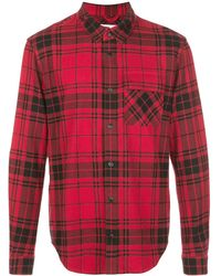 Aztech Mountain Loge Peak Shell-panelled Checked Brushed Cotton-flannel Shirt - Red