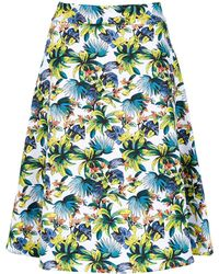 Amir Slama Printed A-line Skirt - Белый