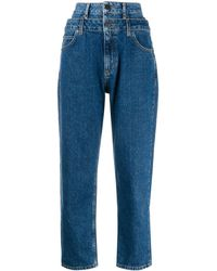 Sandro Kitty Double-waisted Jeans - Blue