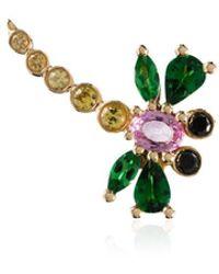 Yvonne Léon 18k Yellow Gold Dragonfly Sapphire Single Earring - Multicolour