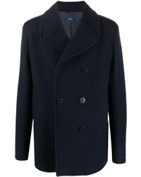 Polo Ralph Lauren Double-breasted Short Coat - Blue