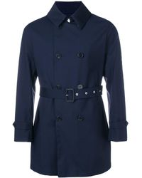 Mackintosh Storm System Short Trench Coat - Blue