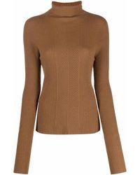 Essentiel Antwerp Athena ハイネック セーター - ブラウン