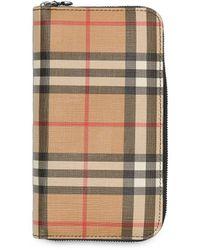 Burberry Portefeuille zippé à carreaux - Multicolore