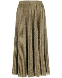 Philosophy Di Lorenzo Serafini - Pleated Metallic Skirt - Lyst