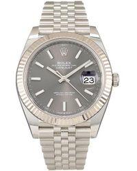 Rolex 2020s ungetragene 'Datejust' Armbanduhr, 41mm - Grau