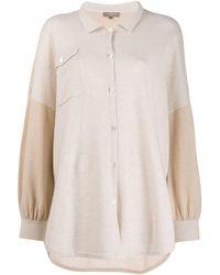 N.Peal Cashmere カラーブロック ニットシャツ - マルチカラー