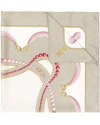 Cartier Fular con estampado de joyas - Multicolor