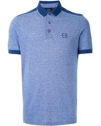 Armani Exchange ロゴ ポロシャツ - ブルー