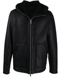 Dondup レザージャケット - ブラック