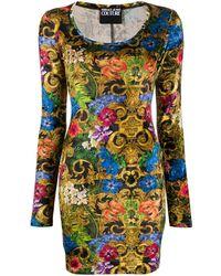 Versace Jeans - バロックプリント ドレス - Lyst