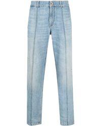 Brunello Cucinelli クロップド テーパードジーンズ - ブルー